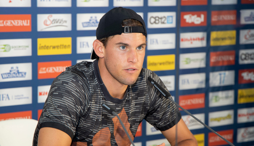 Dominic Thiem at a press conference