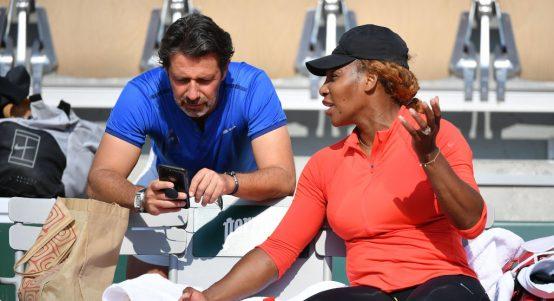 Patrick Mouratoglou and Serena Williams