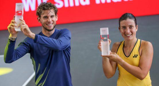Dominic Thiem and Anastasija Sevastova Bett1 Aces champions