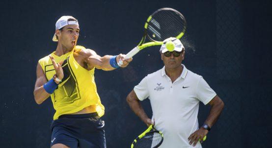 Toni Nadal coaching Rafael Nadal
