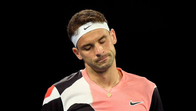 Grigor Dimitrov looking sad