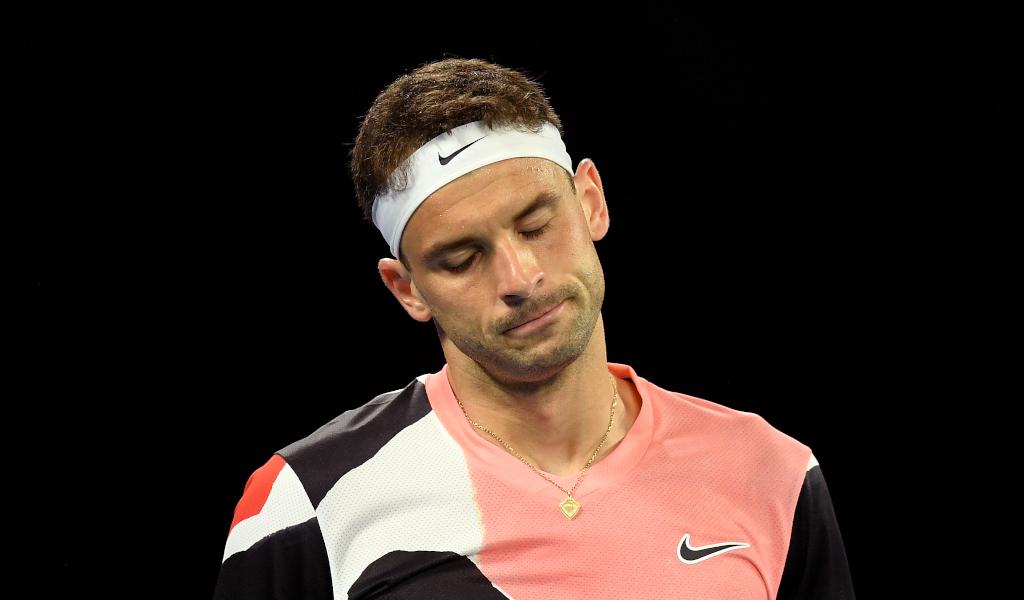 Grigor Dimitrov looking sad