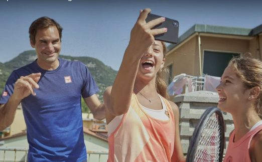 Roger Federer, Vittoria Oliveri and Carola Pessina for Barilla ad