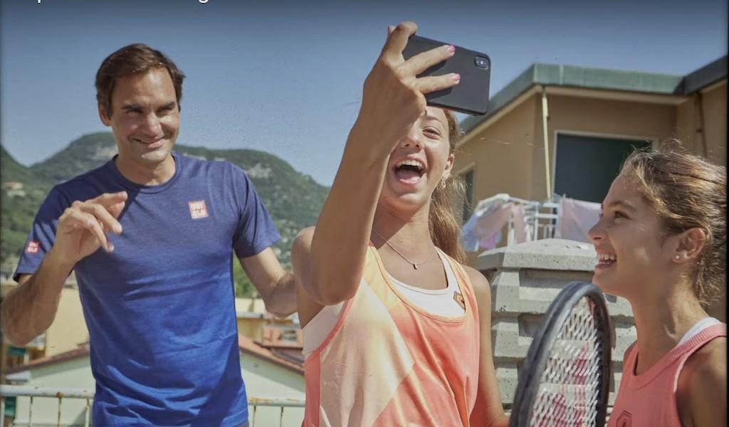 Roger Federer, Vittoria Oliveri and Carola Pessina for Barilla ad