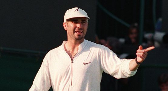 A ranting Andre Agassi