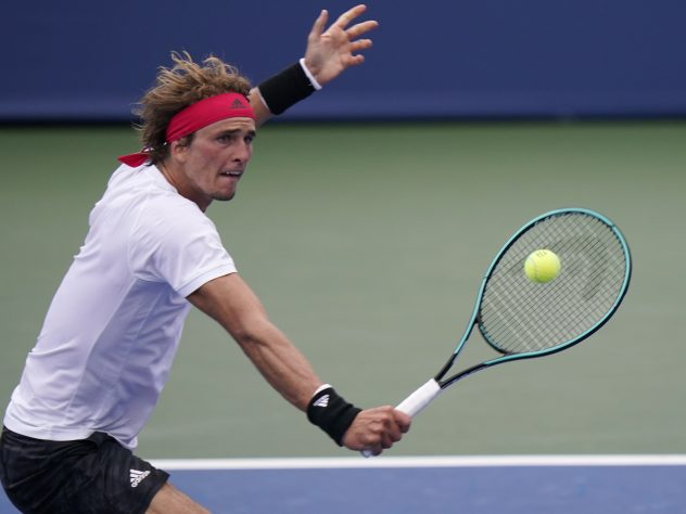 Alexander Zverev, pictured, was beaten by Andy Murray in two hours and 31 minutes