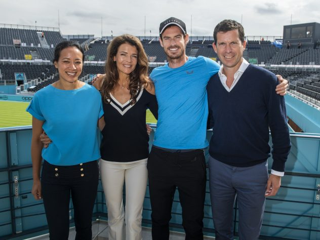 Tim Henman (right) admits it has been bizarre to watch tennis without fans