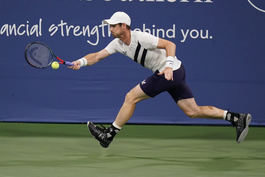 Andy Murray on the run