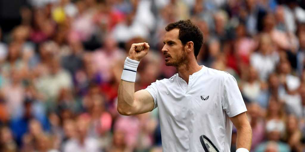Andy Murray pumped