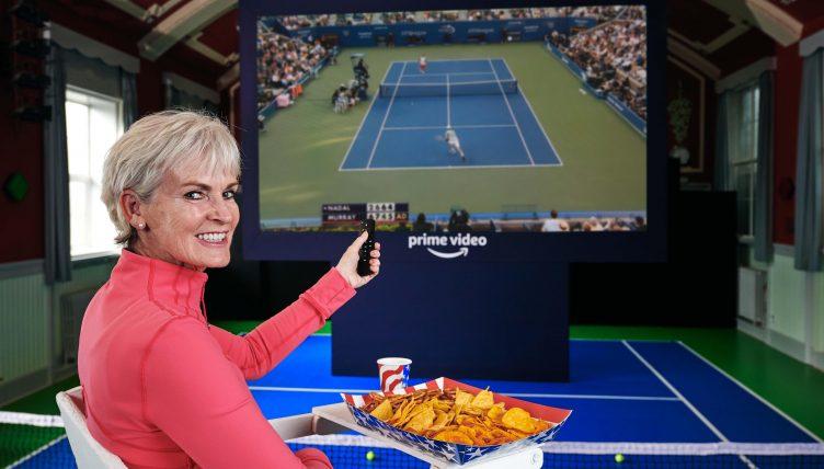 Judy Murray watching tennis