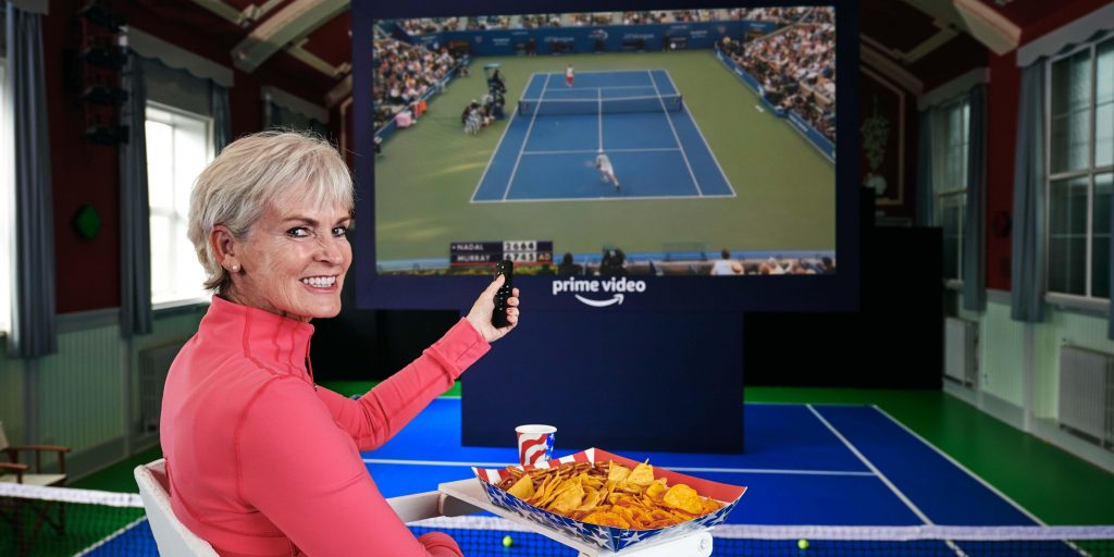 Judy Murray watching tennis