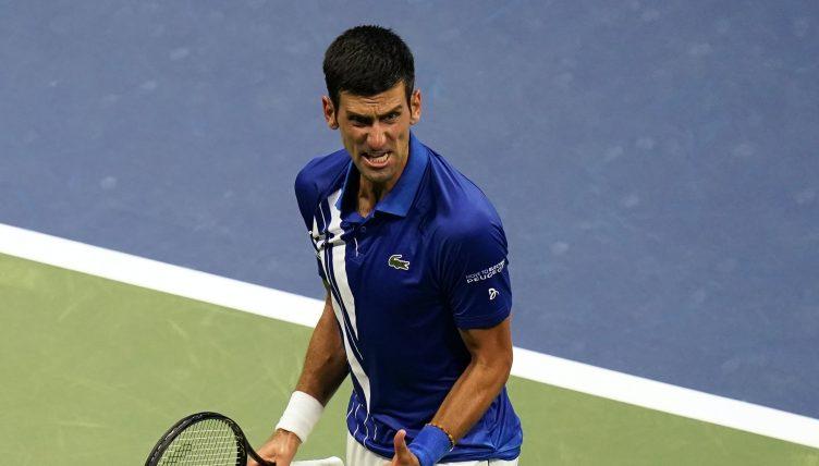 Novak Djokovic pumped up