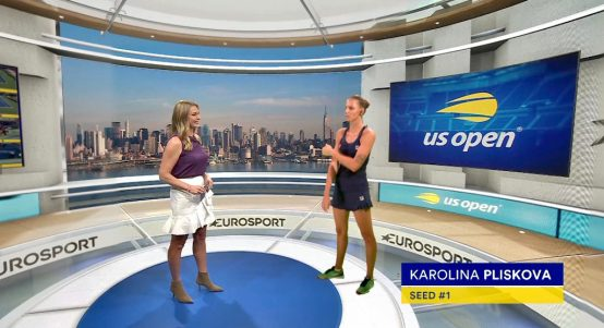 Barbara Schett-Eagle and Karolina Pliskova Eurosport