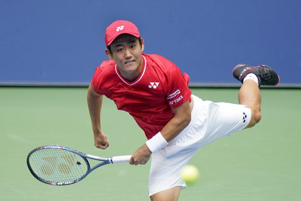 Yoshihito Nishioka in action