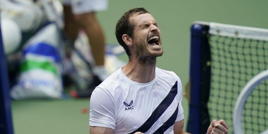 Andy Murray enjoying his win