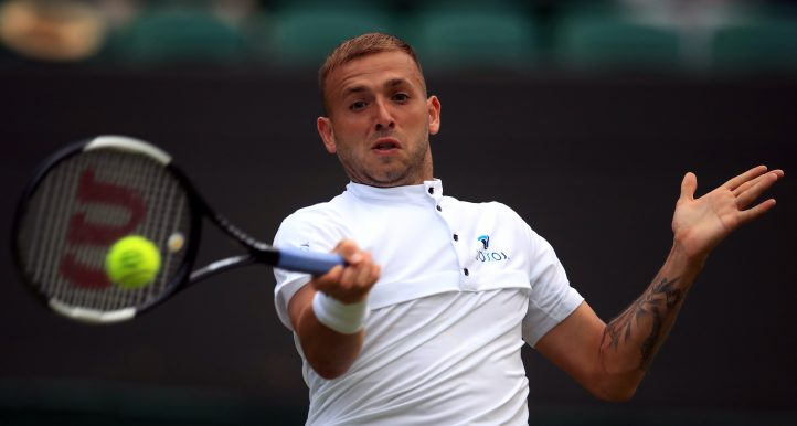 Dan Evans in action