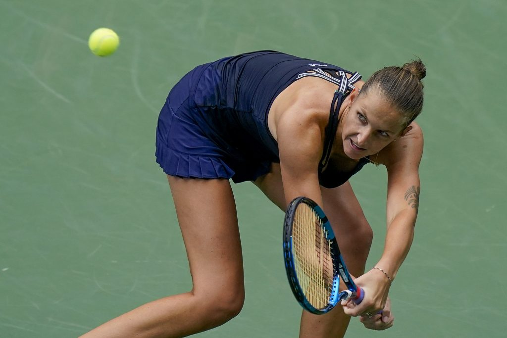 Karolina Pliskova on the backfoot