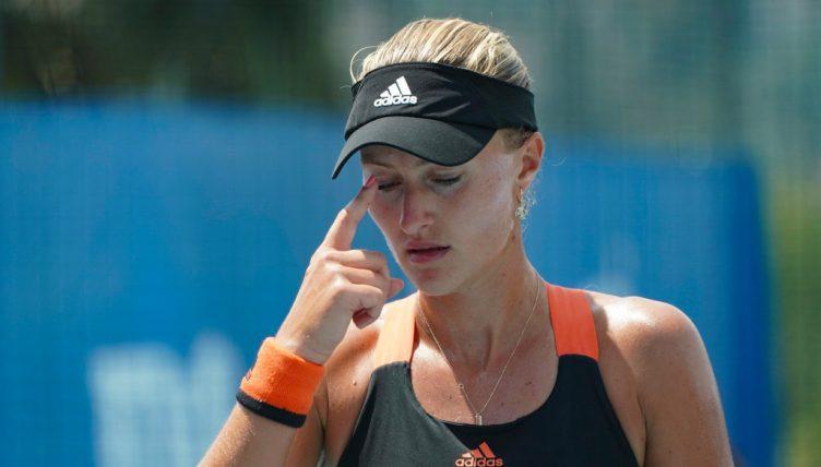 Kristina Mladenovic unimpressed