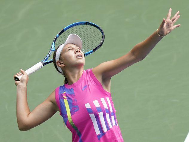Amanda Anisimova claimed an emotional victory