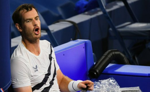 Andy Murray feeling the heat