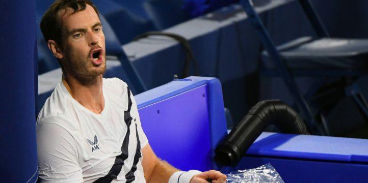 Andy Murray feeling the heat
