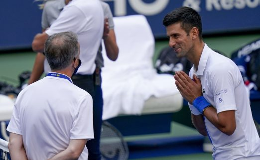 Novak Djokovic pleading with tournament officials