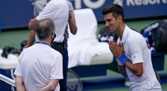 Novak Djokovic pleading with tournament officials