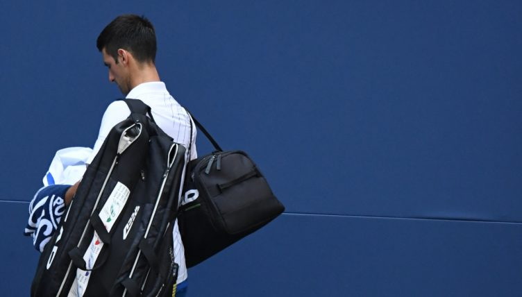 Novak Djokovic after being defaulted from US Open