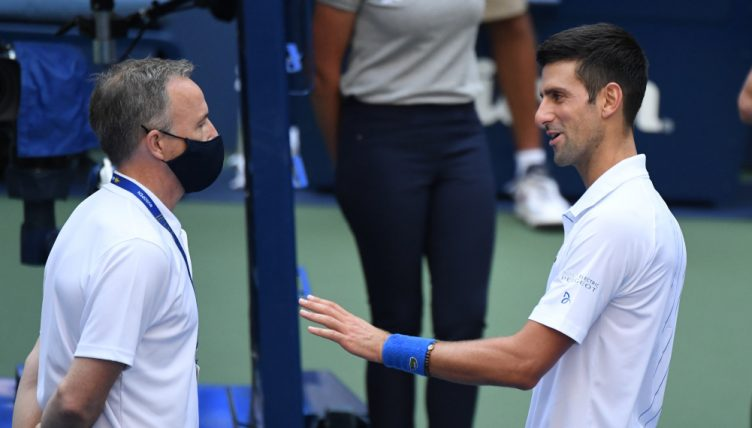 What Novak Djokovic Said After Being Defaulted From Us Open For Hitting A Line Judge With A Ball Tennis365 Com