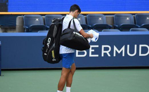 Novak Djokovic defaulted from US Open