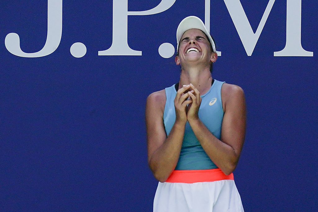 Jennifer Brady ecstatic