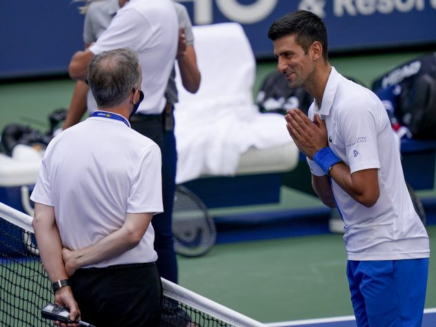 Novak Djokovic pleads with tournament referee Soeren Friemel