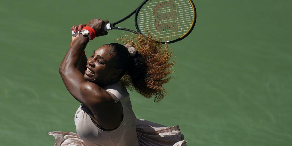 Serena Williams swinging
