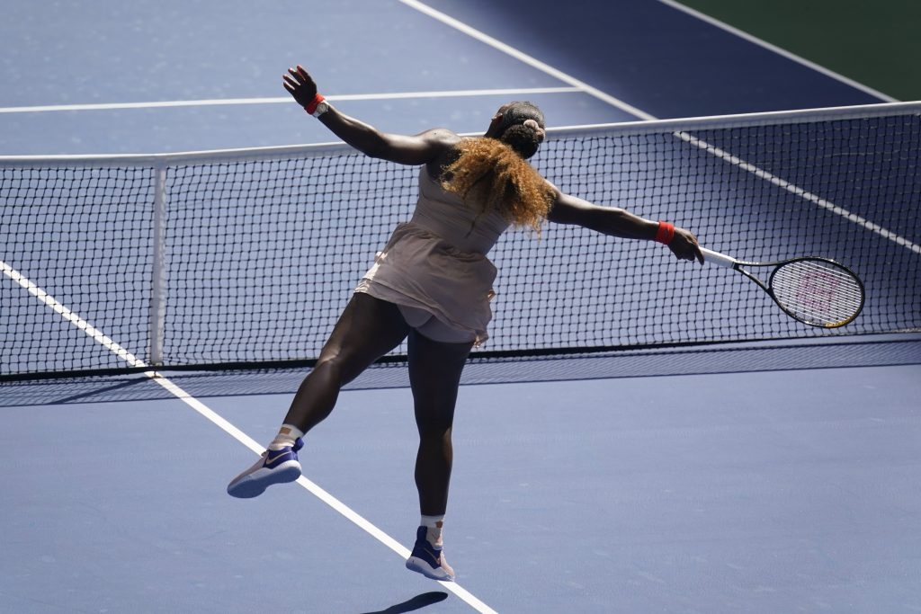Serena Williams made to stretch