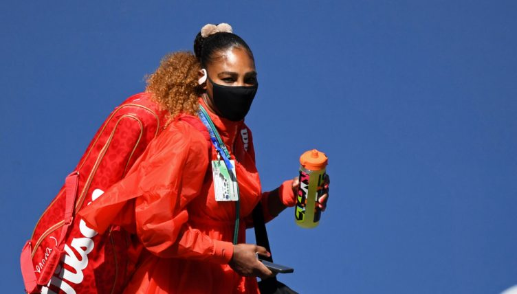 Serena Williams enters the arena