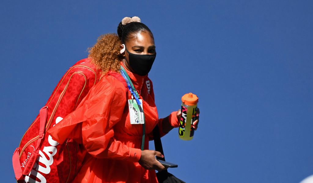 Serena Williams enters the arena