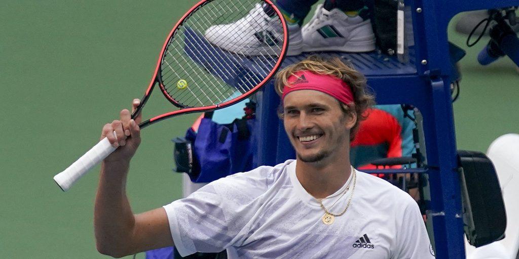 A delighted Alexander Zverev