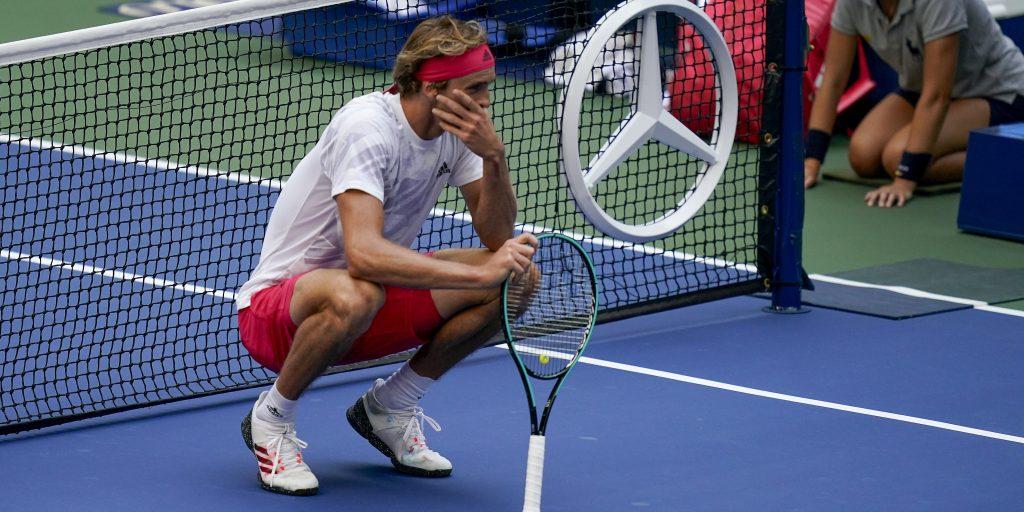 Alexander Zverev gets emotional