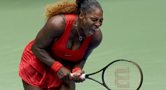 Serena Williams screaming