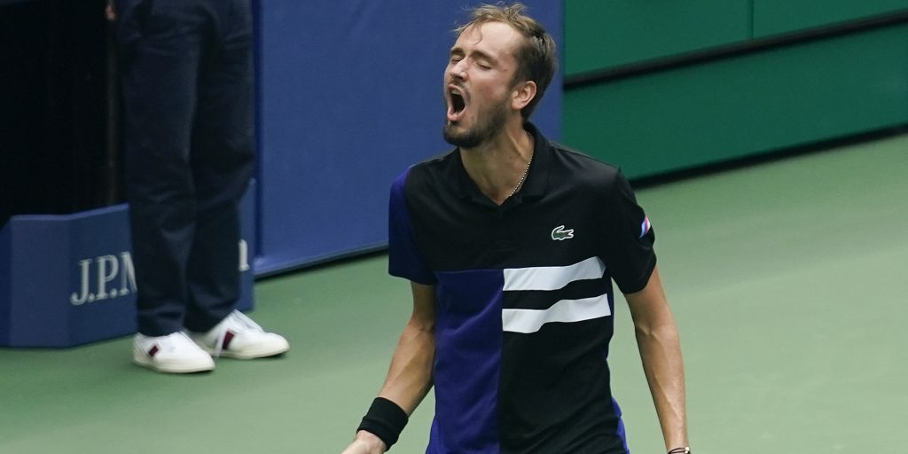 Daniil Medvedev screaming