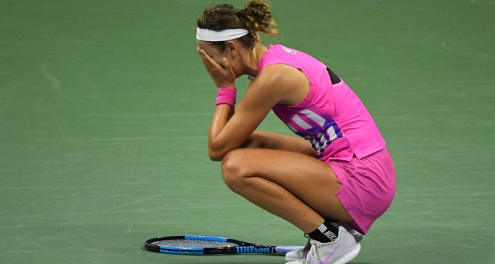 Victoria Azarenka gets emotional