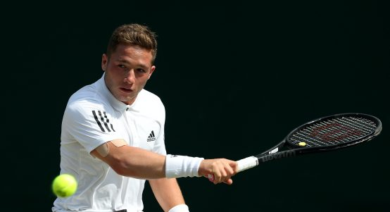 Alfie Hewett in action