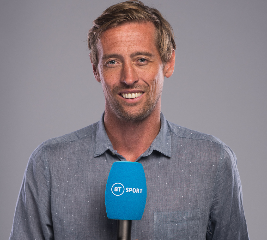 Former England striker and BT Sport pundit Peter Crouch