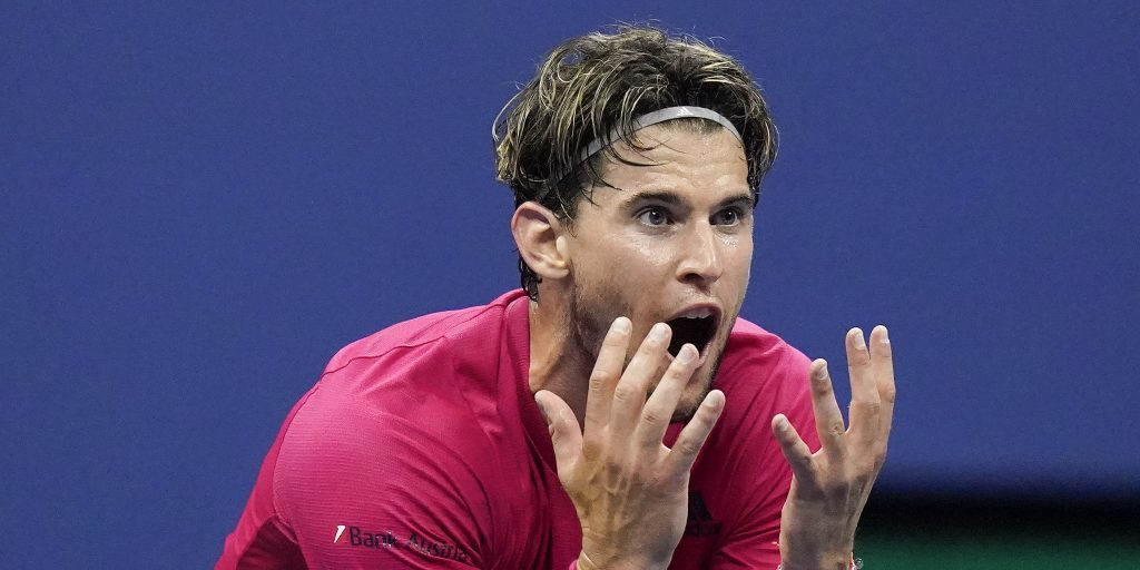 A delighted Dominic Thiem