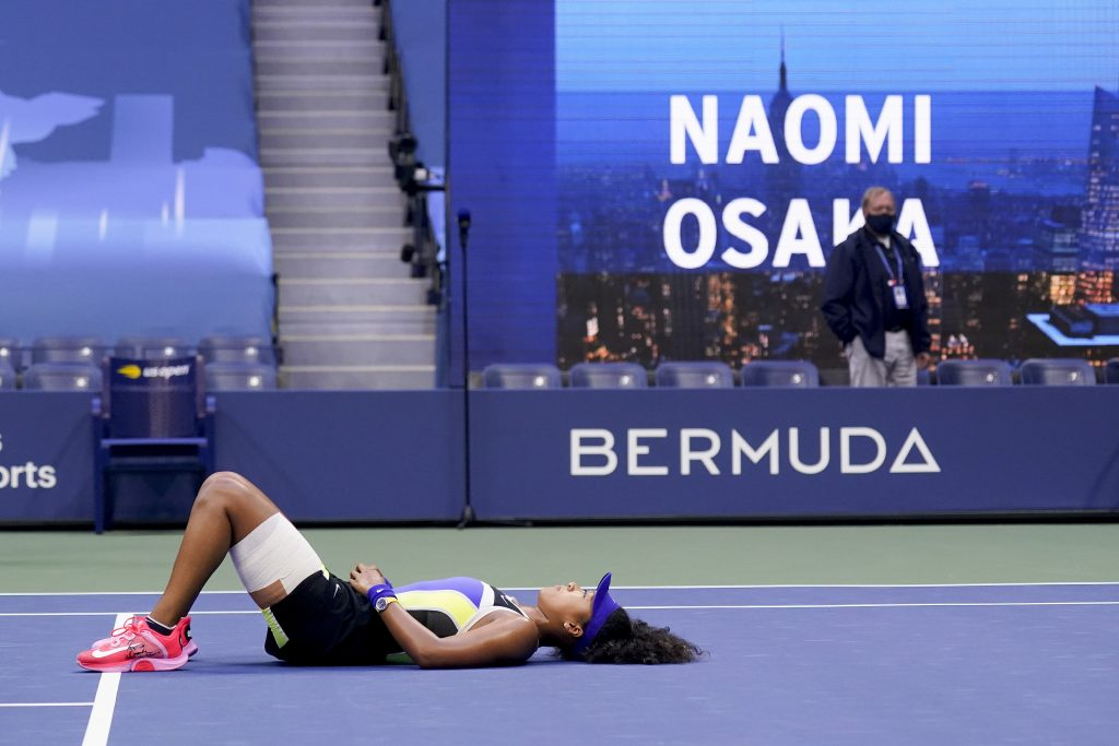 Naomi Osaka on the floor