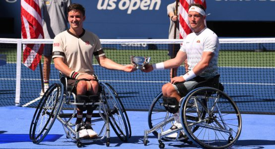 Gordon Reid and Alfie Hewett US Open men's wheelchair doubles champions