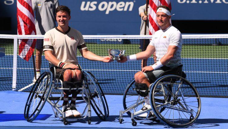 Gordon Reid and Alfie Hewett US Open men's wheelchair doubles champions