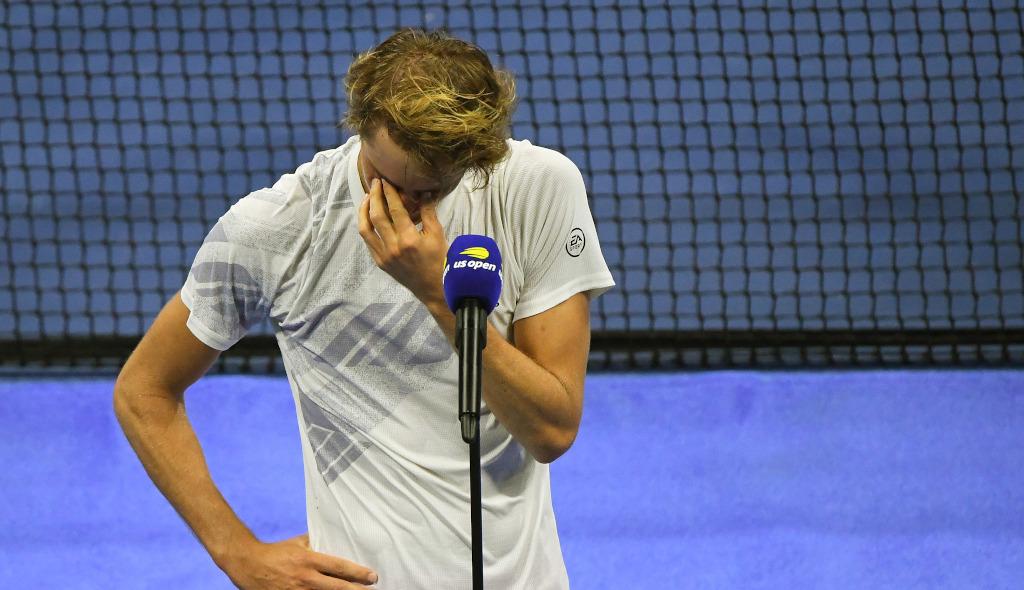 Alexander Zverev emotional after US Open final