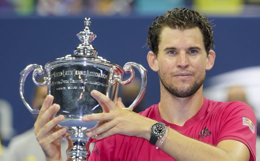 Dominic Thiem with US Open trophy