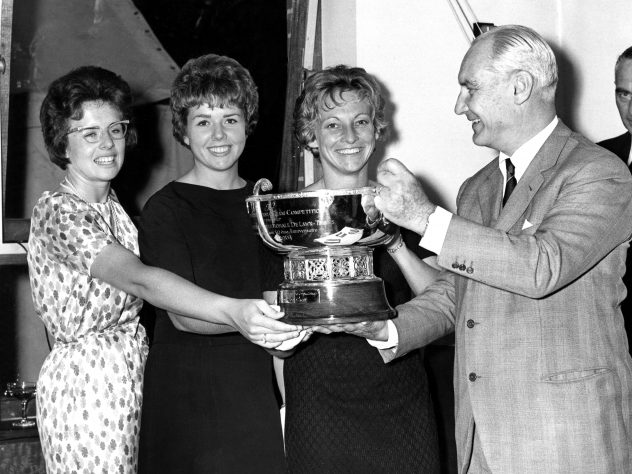 Billie Jean King, left, was part of the winning team at the first edition of the Fed Cup in 1963
